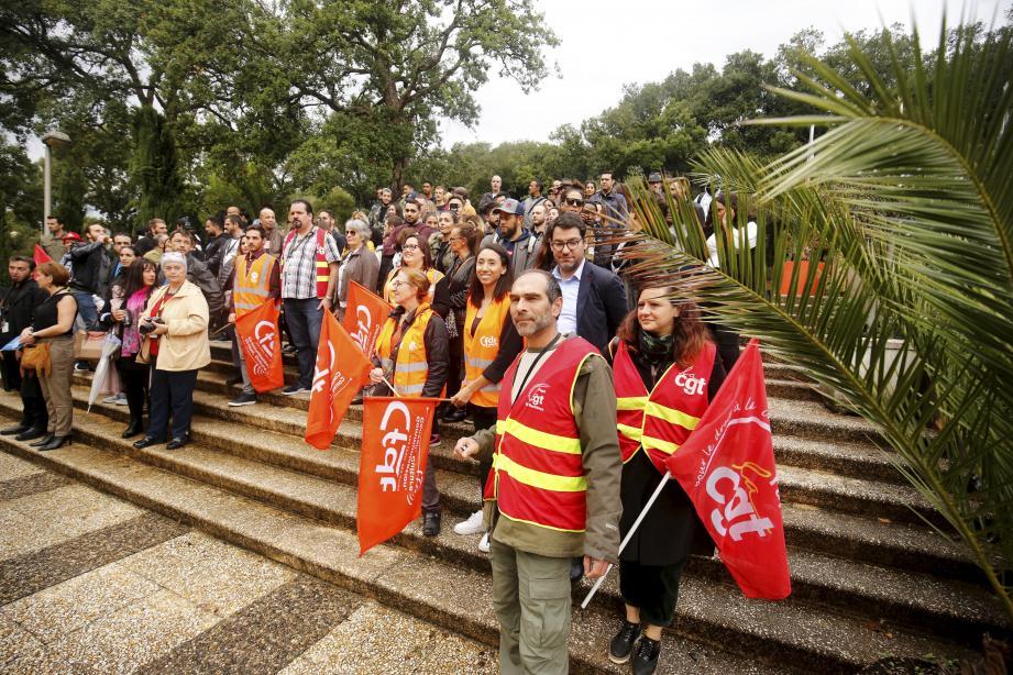 Les représentants des salariés de Conduent, à Biot, ont organisé une assemblée générale, lundi, dans le but notamment de médiatiser l'affaire.