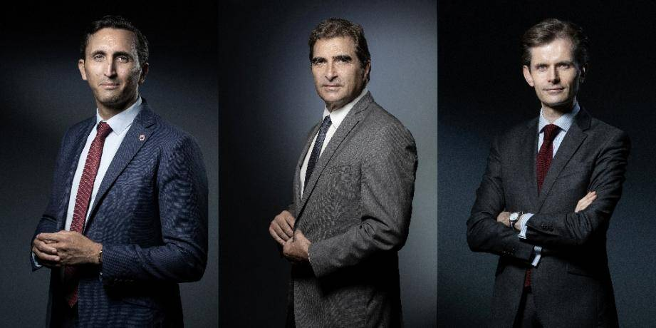 Les trois candidats à la présidence des Républicains, de gauche à droite : Julien Aubert, Christian Jacob and Guillaume Larrivé, montage réalisé le 18 spetembre 2019