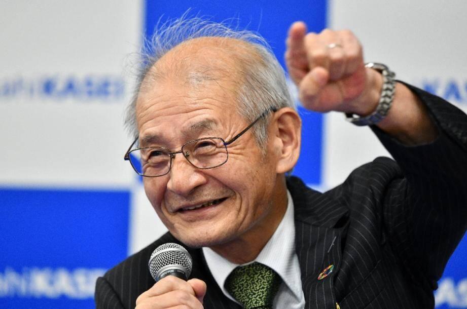 Le Japonais Akira Yoshino, lauréat du Nobel de Chimie avec l'Américain John Goodenough et le Britannique Stanley Whittingham, le 9 octobre 2019 à Tokyo
