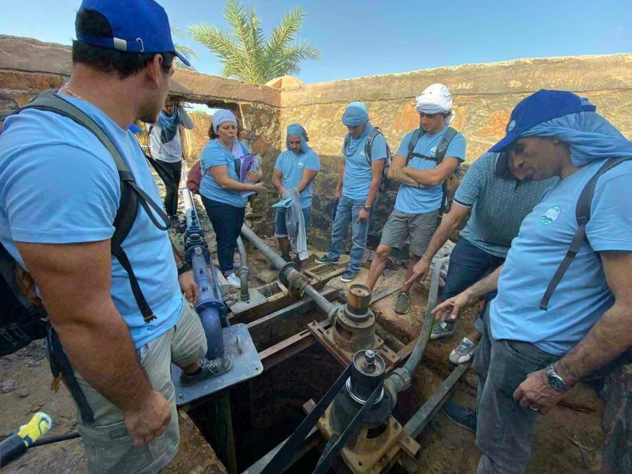 Onze étudiants en gestion de l'eau (Gemeau) du pôle de formation antibois (CFPPA) ont œuvré pendant près d'une semaine.