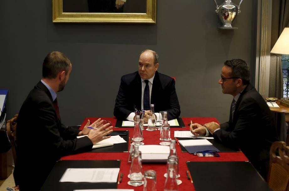 Le prince Albert-II s'est exprimé sur le chantier du CHPG, sur la justice et monabike