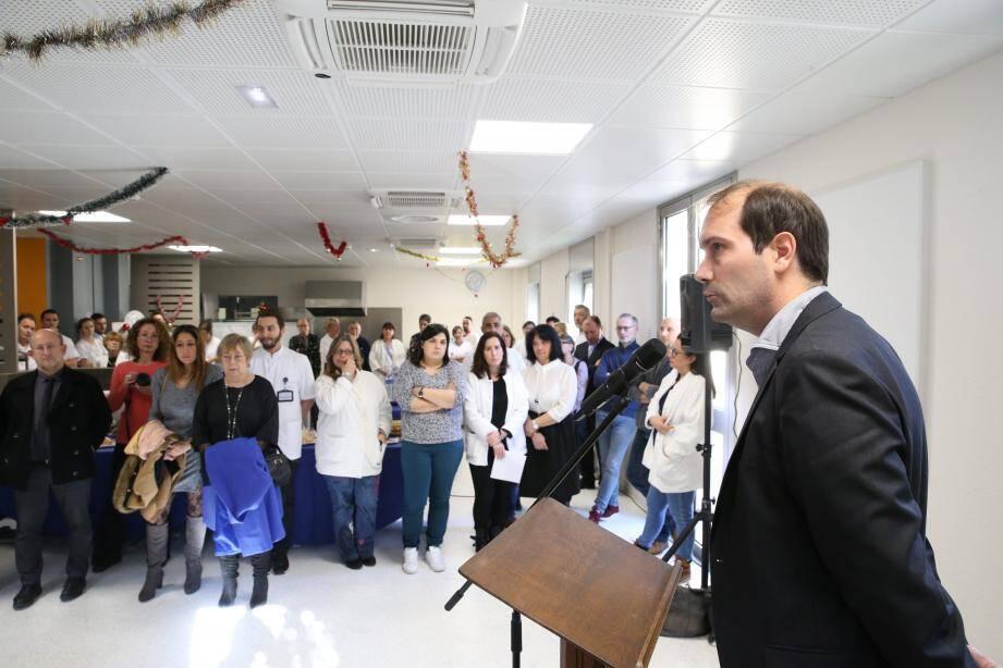 Julien Cestre, directeur de La Palmosa, a adressé ses vœux hier au personnel et aux professionnels de santé de Menton et de sa région.