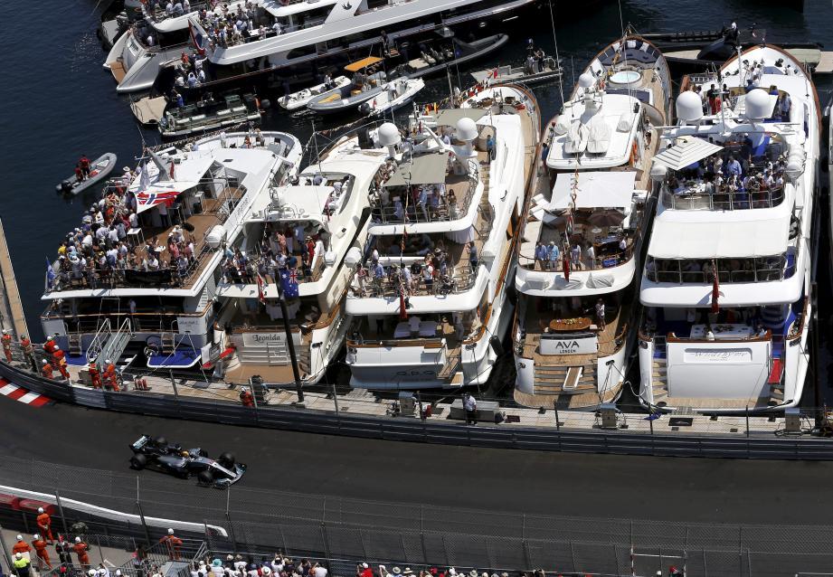 Lors du Grand Prix de Monaco.