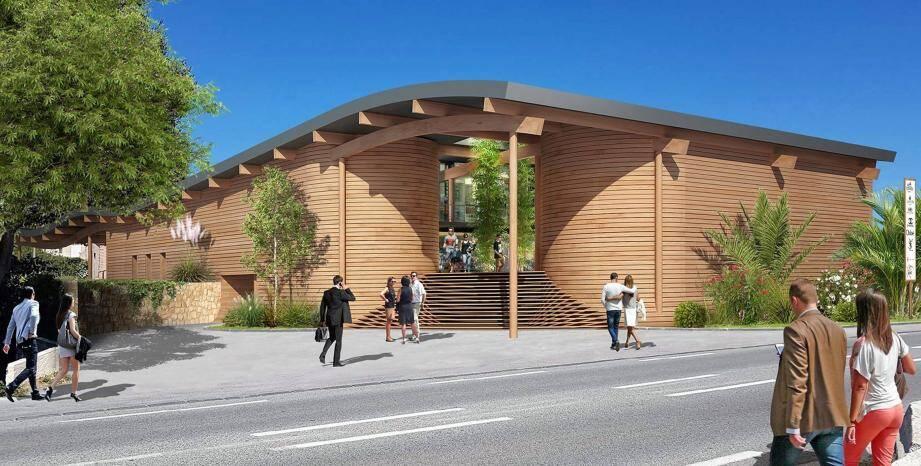 Le visage du projet de pôle d'activités à l'entrée Est de la commune.