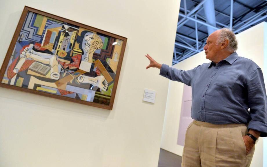 L'huile appartenait à David Nahmad, ici au Grimaldi Forum de Monaco en 2013, pour une exposition où il avait prêté 101 œuvres.