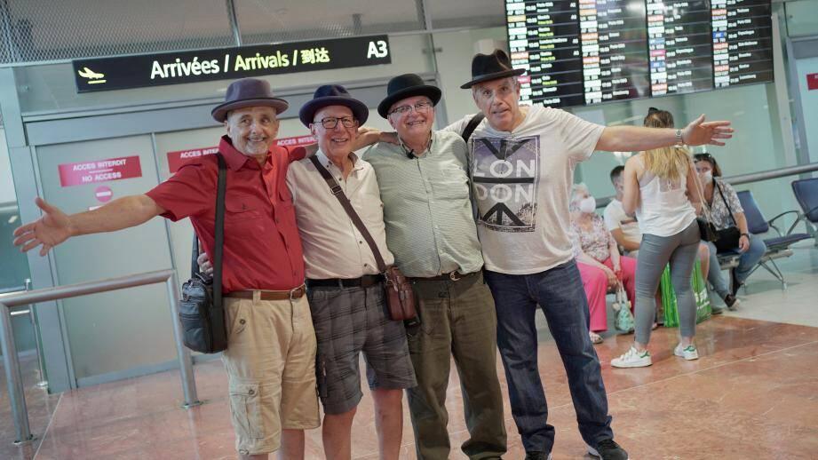 Christian, Alain, Michael et Jean-Marie, quatre frères réunis 70 ans après.