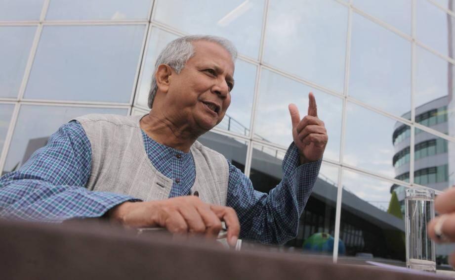Le Pr Muhammad Yunus, ici en 2011 à Nice,