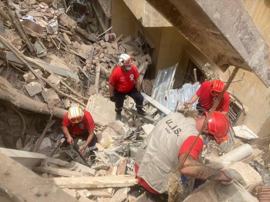 Patrick Villardry, l'ex-pompier laurentin, spécialisé dans la recherche de victimes en décombres, a passé toute la journée de dimanche à travailler dans Beyrouth ravagée après l'explosion du 4 août.