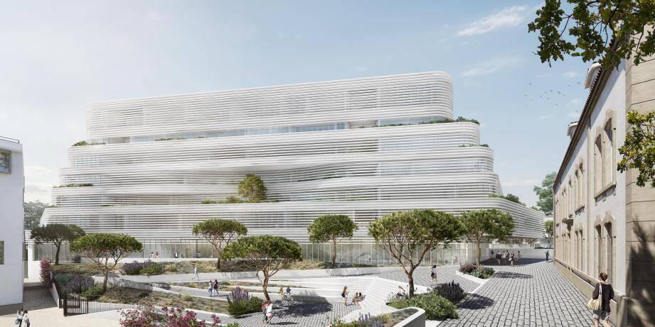 Sur la partie nord du site de Montéty, le bâtiment de l'IFPVPS devrait s'élever en 2023. Il accueillera quelque 1200 étudiants qui pourront aussi profiter d'un parc façon jardin de Babylone.