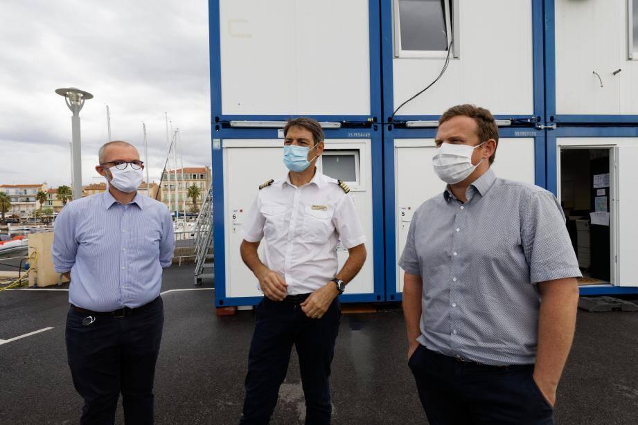 """(De gauche à droite) Xavier Gautier, Jean-Vincent Ladislas et Philippe Rocheteau, tous très fiers des résultats constatés pour cette """"saison inhabituelle""""."""