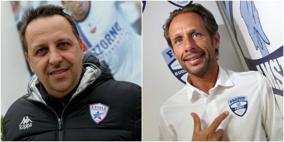 À gauche, Hervé de Serna, président sortant de l'AMSLF, ici en 2018. à droite, Fabien Sgarra, ex-candidat à la présidence de l'association sportive.
