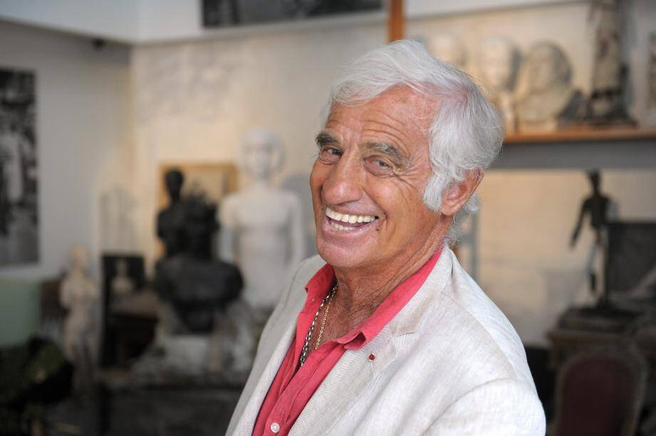 Jean-Paul Belmondo    French actor Jean-Paul Belmondo poses on September 9, 2010 in the recreation of his father's studio at the Paul Belmondo museum, in Boulogne-Billancourt, outside Paris. Dedicated to the artist's work, the Paul Belmondo museum houses an important collection of his sculptures, moulds, medals and drawings and will open on September 18, 2010. AFP PHOTO MIGUEL MEDINA / AFP PHOTO / MIGUEL MEDINA JEAN PAUL BELMONDO FRANCE-CINEMA-SCULPTURE-MUSEUM-BELMONDO
