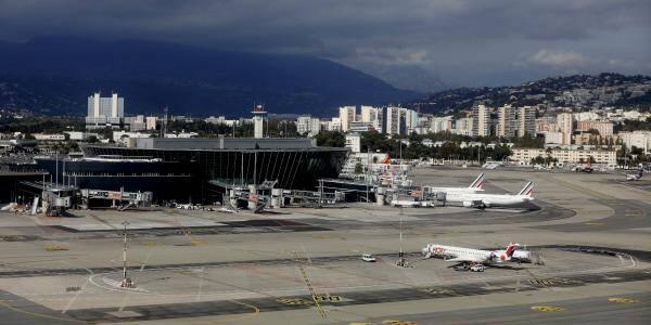 L'aéroport Nice Côte d'Azur le 14 octobre. Illustration.