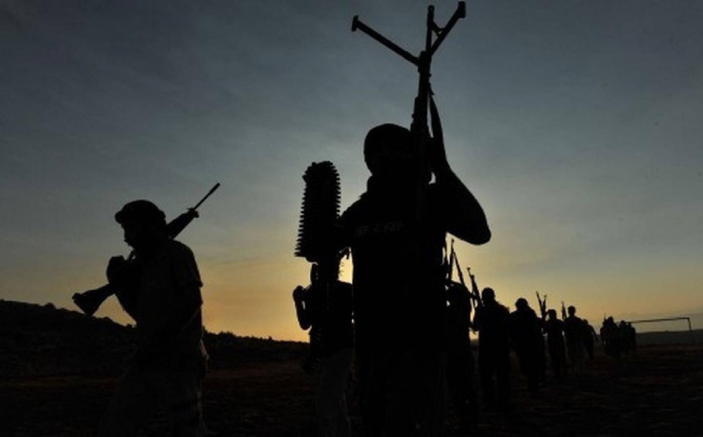 Des djihadistes dans la Province d'Alep, en Syrie