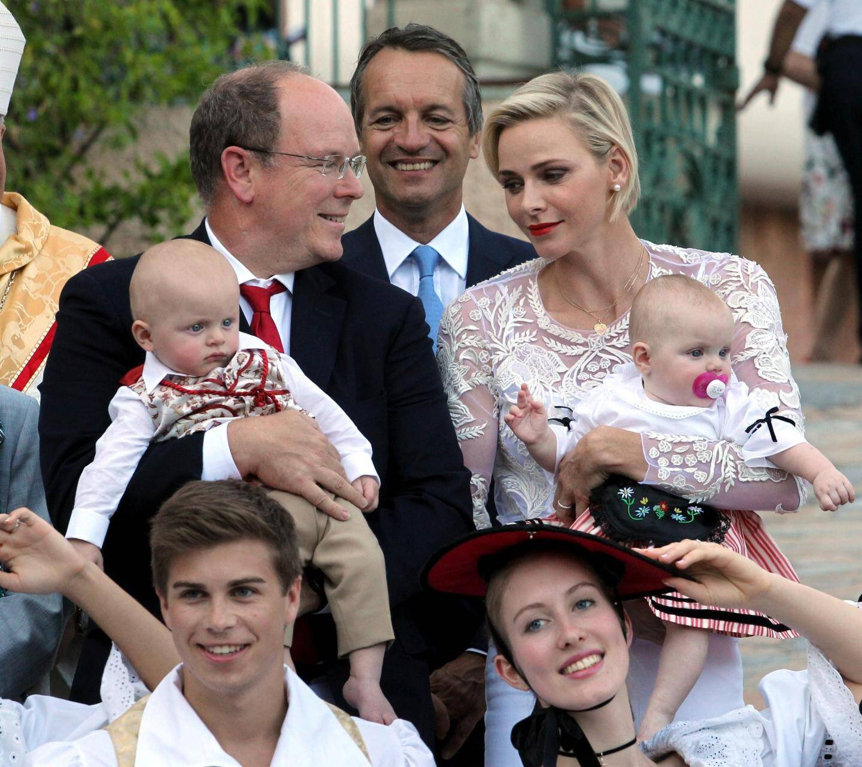 Le couple princier au pique-nique des Monégasques.