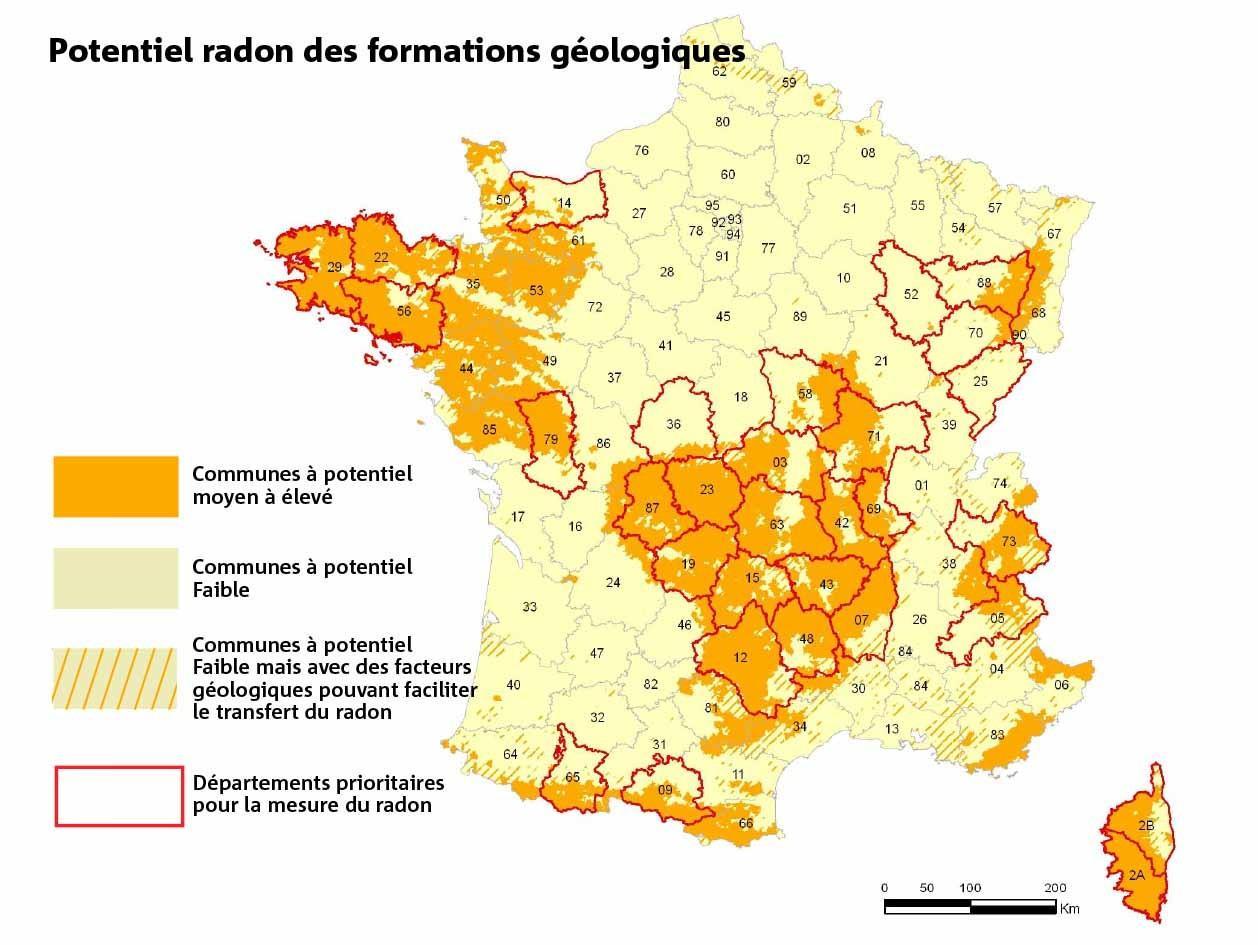Les communes du bord de mer présentent un risque possible d'exposition à ce gaz naturel.