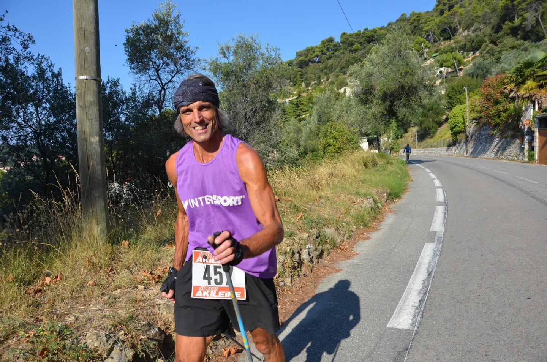Alex Montani, le très athlétique vainqueur  de la course nordique.