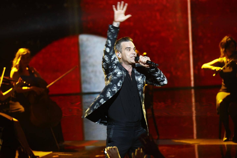 Ceremonie des NRJ Music Awards, le samedi 12 novembre 2016 au Palais des festivals de Cannes.Robbie Williams