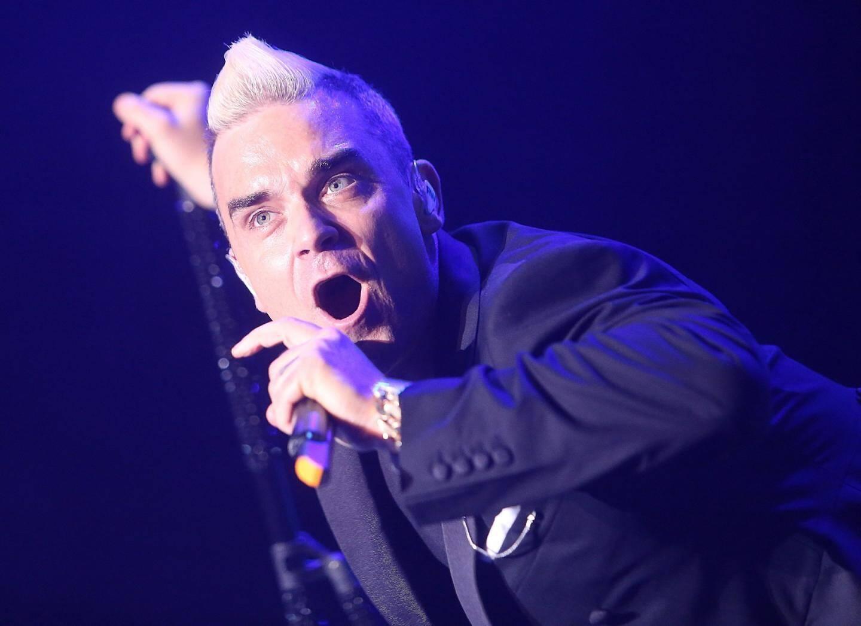 Robbie Williams en concert à Monaco.