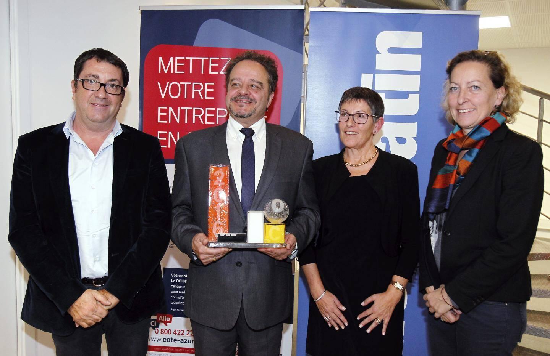 Jean-Marc Gambaudo encouragé par Laurent Londeix (Orange) et Olivier Vincent (Bpifrance).