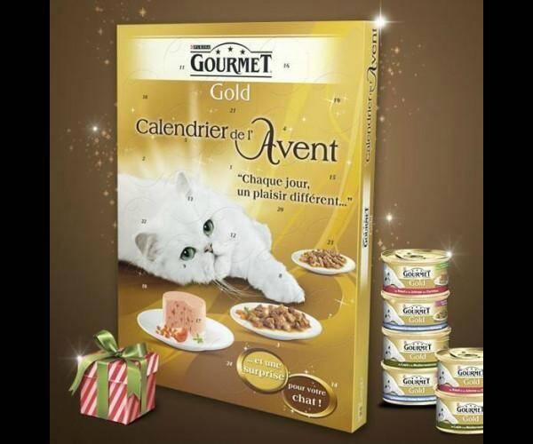 Le calendrier Gourmet pour chat.