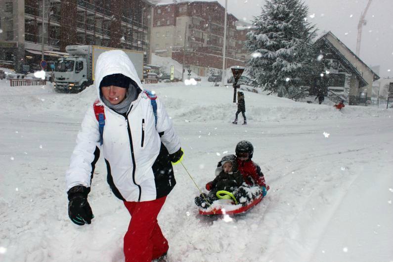 La neige à Valberg.