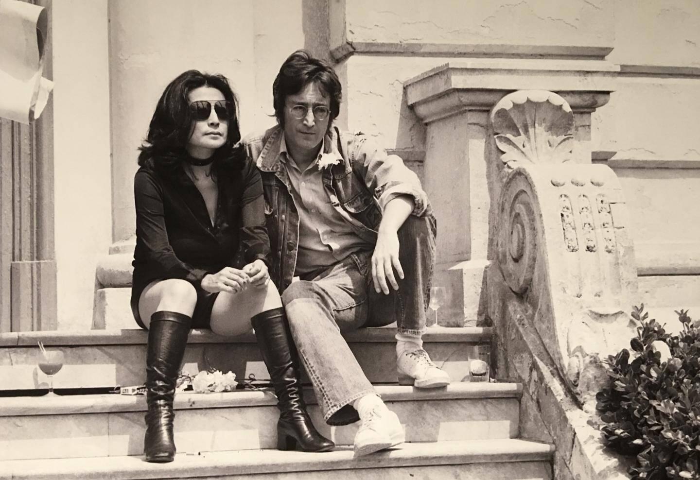 John Lennon et Yoko Ono.