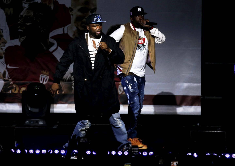 50 Cent en concert pour la fête du titre de champion de France de Ligue 1 2016/2017 de l'AS Monaco au Chapiteau de Fontvieille
