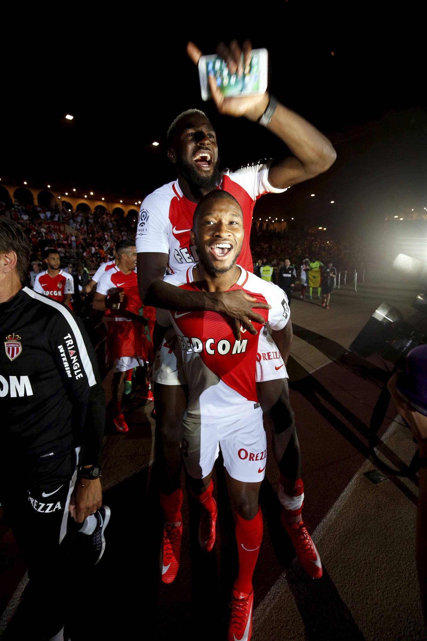 L'AS Monaco fête son titre de Champion de France de Ligue 1 au Louis II -AS Monaco - AS Saint EtienneMatch en retard de la 31ème journée de ligue 1 2016/2017 au stade Louis II de Monaco - mercredi 17 mai 2017 à 21h ASM-ASSE