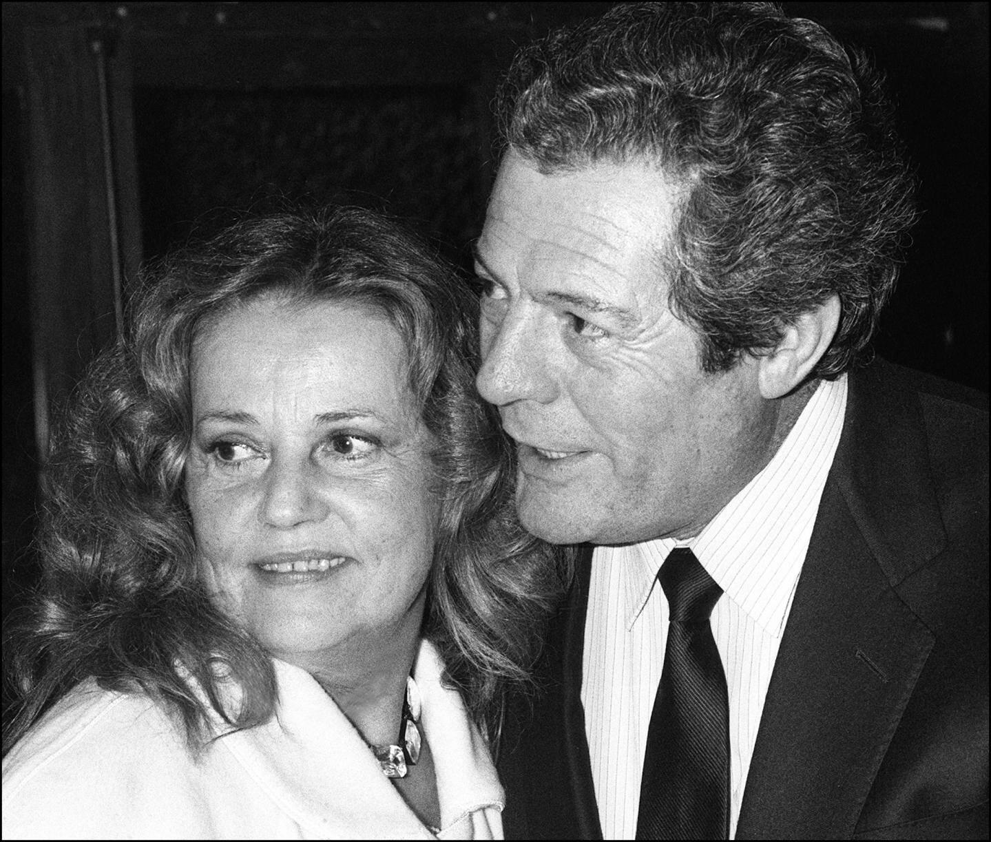 Jeanne Moreau et Marcello Mastroianni à Nice