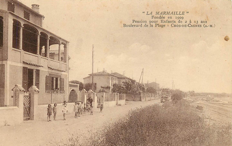 Le bord de mer au début du XXe siècle.