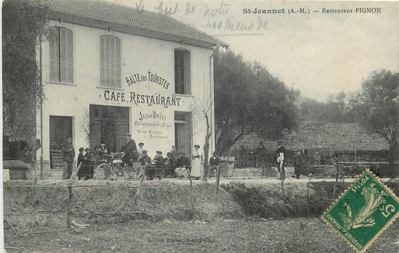 La halte des touristes, un restaurant et un jeu de boule célèbre du passé