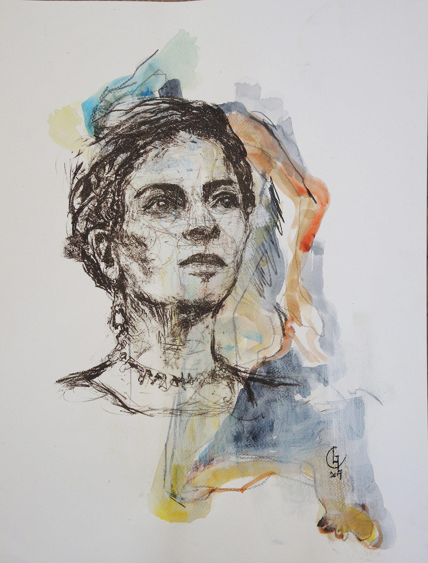 Frida Kahlo par Christelle Leleu.