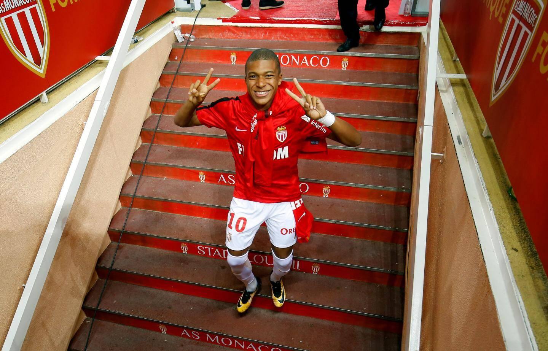 Mbappe lors de sa dernière apparition sous le maillot monégasque face à l'OM.