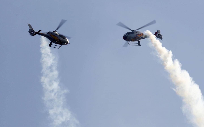 Les hélicoptères ont également fait le show dans le ciel maximois.