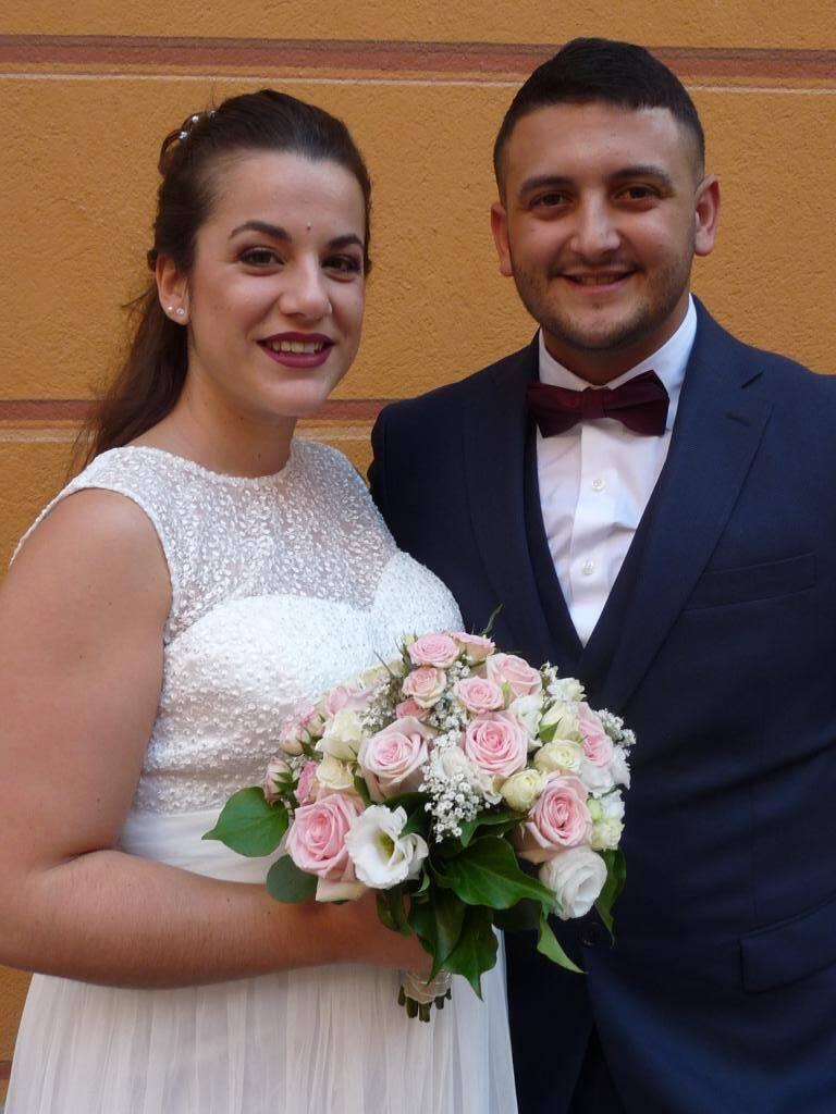 Sandra Teixeira Ribeiro, préparatrice en pharmacie, et Damien Hernandez, boucher.