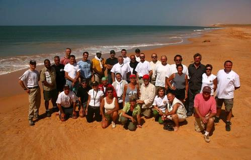 Les concurrents du rallye historique couru en 2007 entre le Togo et le Var.