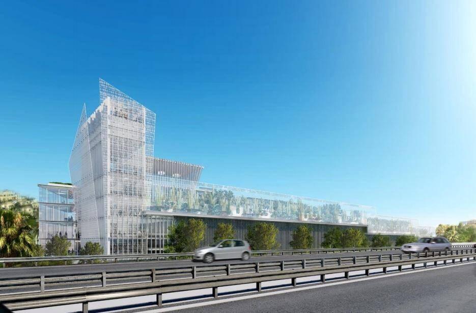 Le parc de stationnements doit constituer une barrière visuelle et auditive pour se protéger de l'autoroute.