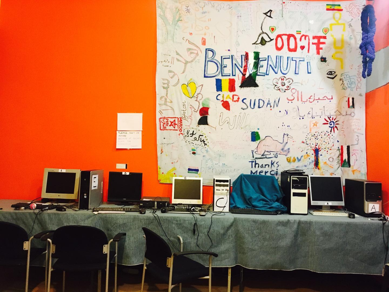 Le point info a récupéré 5 ordinateurs. L'un d'eux est en panne.