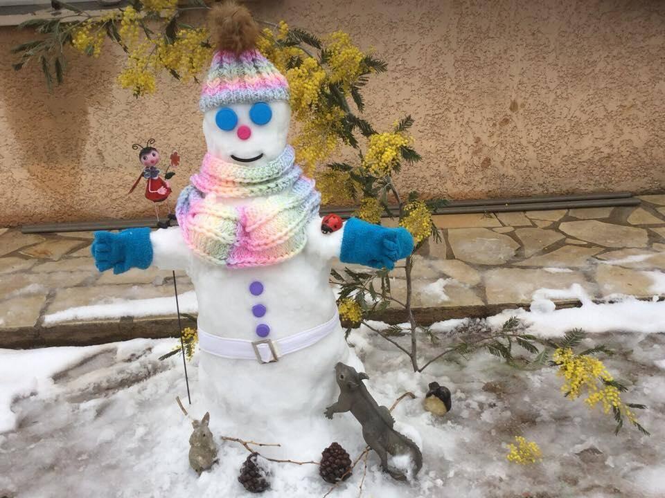 Un bonhomme de neige à la mode !