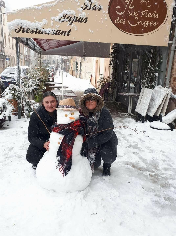 Un bonhomme de neige à Gonfaron.