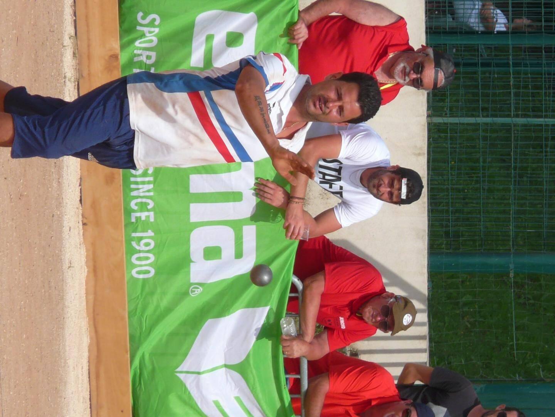 Mickaël Martini (photo de gauche) est « super heureux ». « J'ai un peu moins bien joué aujourd'hui, mais Cédric (Girard) et Yohann (Segui, photo de droite) ont assuré. Le niveau de jeu était vraiment relevé. »