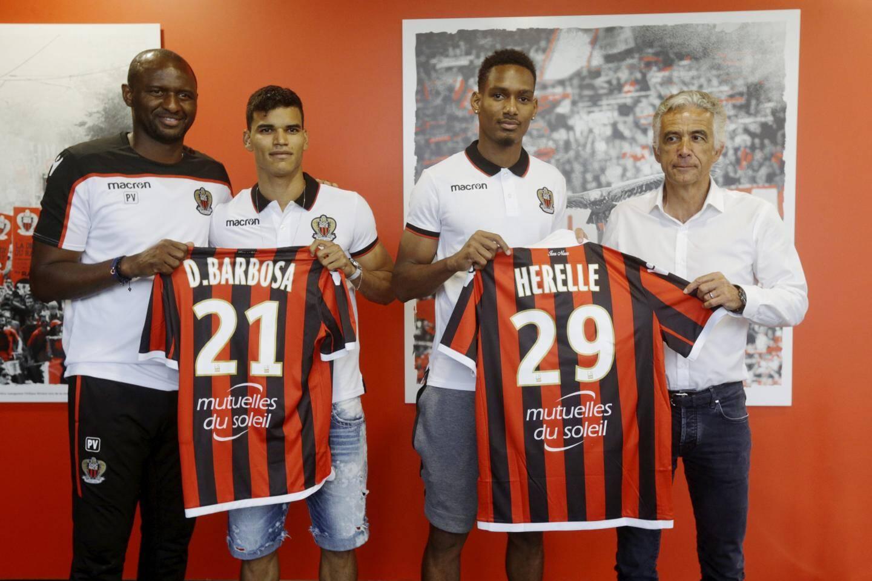 Danilo Barbosa et Christophe Hérelle se sont engagés avec l'OGC Nice cet été.