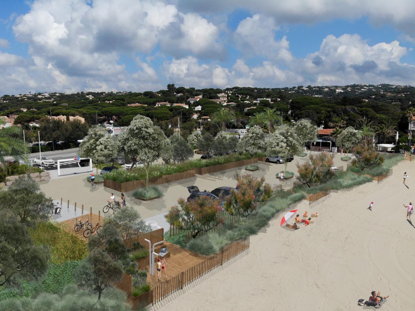 Le parking Nord comme le parking Sud de la plage de la Nartelle feront l'objet d'aménagements paysagers faisant la part belle au végétal. Et le début des travaux pourrait bien être pour 2018 !