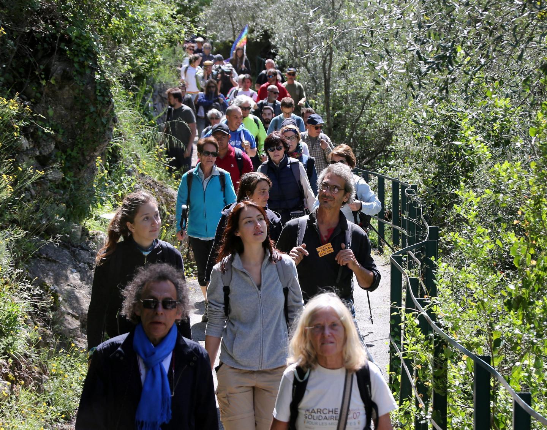 La marche des migrants est partie de Vintimille le 30avril. Elle s'est achevée à Londres en juillet.