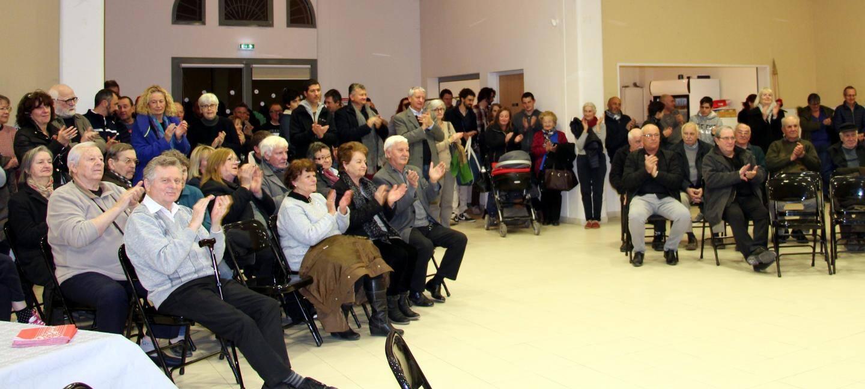 Carnoulais et invités se sont déplacés en nombre pour écouter le maire Christian David.