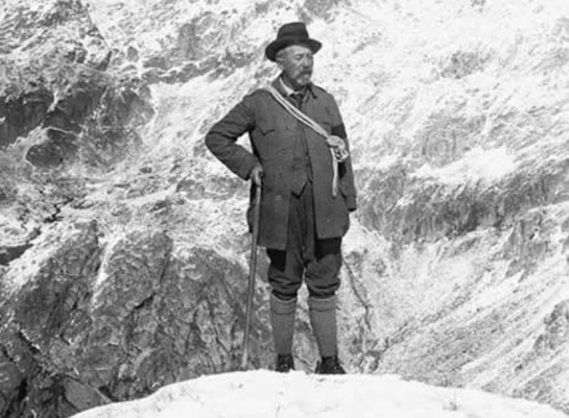 Le chevalier de Cessole, pionnier du sport en montagne dans les Alpes-Maritimes.
