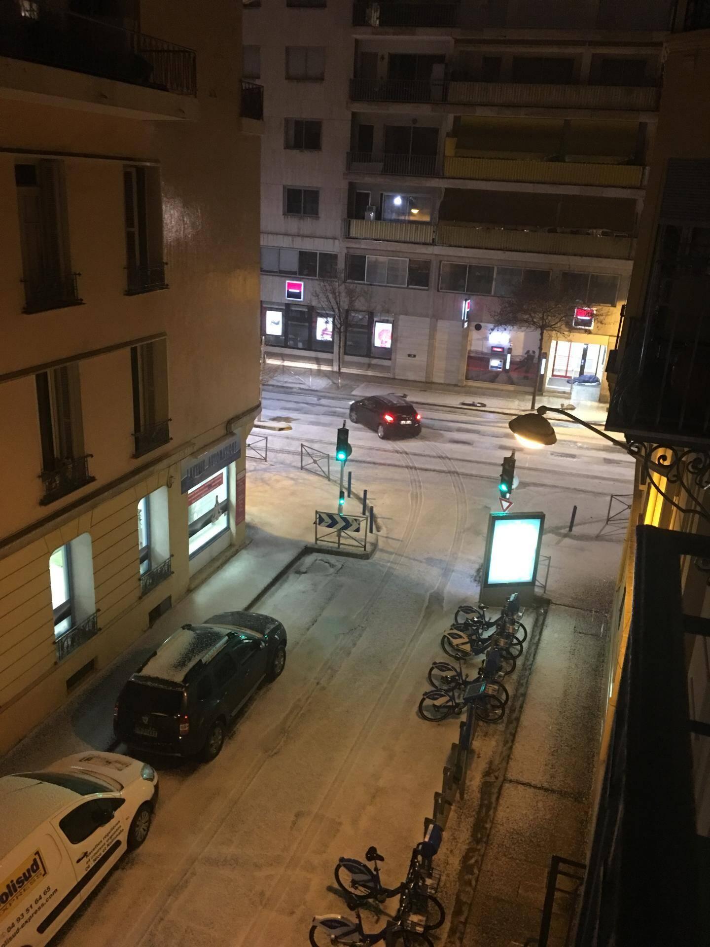 Le croisement entre le boulevard François Grosso et la rue Alexis Mossa à Nice ce samedi soir.