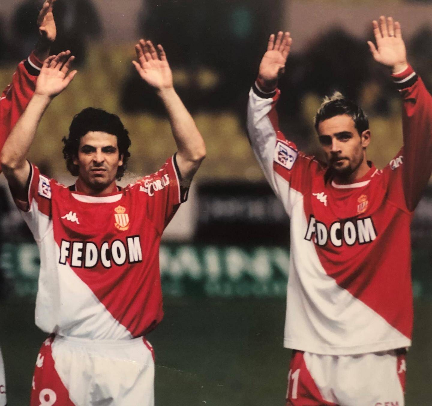 Ludovic Giuly et Marco Simone.