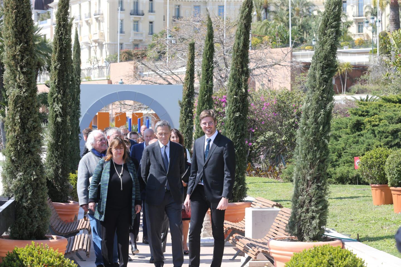 Marie-Pierre Gramaglia, conseiller de gouvernement-ministre de l'Équipement, de l'Environnement et de l'Urbanisme, a inauguré le lieu en présence de Xavier Beck, vice-président du Conseil départemental et maire de Cap-d'Ail.